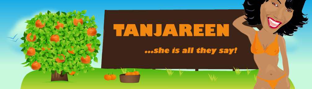 Tanjareen Martin website banner cartoon photo